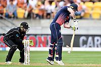 England batsman Ben Stokes in action while batting during the Third ODI game between Black Caps v England, Westpac Stadium, Wellington, Saturday 03rd March 2018. Copyright Photo: Raghavan Venugopal / © www.Photosport.nz 2018