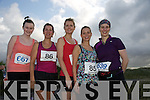 Grace King Lorkin, Rosemarie Lawlor, Oonagh O'Driscoll, Freda Leahy, Silka Neuman  at the Banna 10k Run on Sunday
