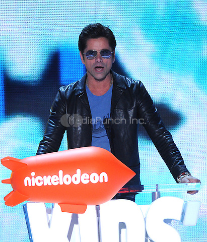 LOS ANGELES, CA - MARCH 12: John Stamos onstage at the Nickelodeon 2016 Kids Choice Awards at The Forum on March 12, 2016 in Inglewood, California. Credit: PGFM/MediaPunch