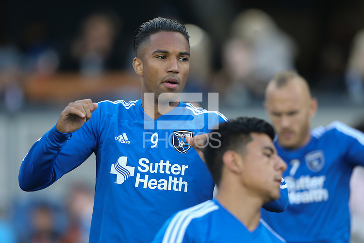 San Jose, CA - Saturday May 05, 2018: Danny Hoesen during a Major League Soccer (MLS) match between the San Jose Earthquakes and the Portland Timbers at Avaya Stadium.