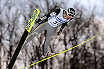 PAVEL KARELIN of Russia soars through the air during the FIS World Cup Ski Jumping in Sapporo, northern Japan in February, 2008.
