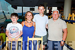The Hannigan family enjoying a night out in the Kingdom Greyhound Track on Friday evening.  L-r, Conor, Catherine, Sam and Declan Hannigan.