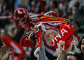 June 4th 2017, Estadi Montilivi,  Girona, Catalonia, Spain; Spanish Segunda División Football, Girona versus Zaragoza; Celebration by Girona fans as their team escapes with a draw and are promoted to La Liga for 2017-18 season