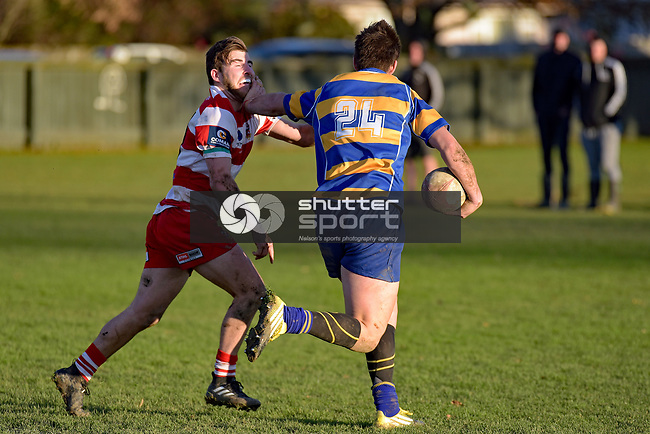 JUNE 24: Div 1 Rugby - WOB v Wanderers, Jubilee Park, June 24, 2017, Nelson, New Zealand. (Photo by: Barry Whitnall Shuttersport Limited)