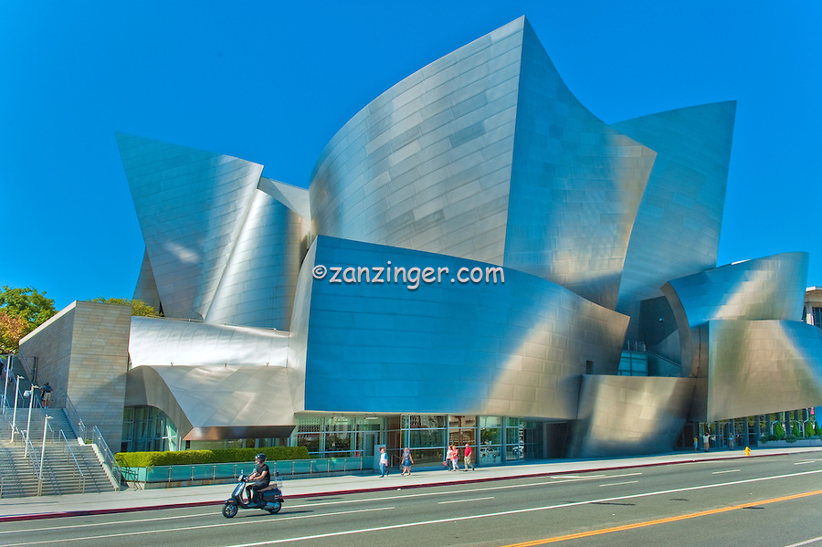 Walt Disney Concert Hall, Designed by, architect, Frank Gehry, Los Angeles, Philharmonic, exterior, building, Architecture, Architectural, Calif. California, CA, Downtown, LA