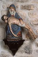 Europe/France/Limousin/19/Corrèze/Gimel: Notre-Dame-de-la-Pitié - Vierge de l'annonciation pierre polychrome XVème