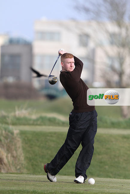Paul Behan (St. Annes) on the 4th tee at the Hilary Golf Society at Portmarnock Hotel and Golf Links, Co.Dublin...(Photo Jenny Matthews/www.golffile.ie)