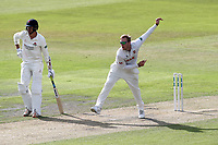 Simon Harmer in bowling action for Essex during Lancashire CCC vs Essex CCC, Specsavers County Championship Division 1 Cricket at Emirates Old Trafford on 9th June 2018