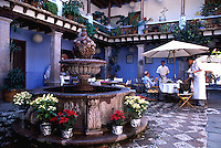 Mozarela Restaurant in Valle de Bravo, with its beautiful lake, colonial buildings, cobbled streets,  and a 2 hour drive from Mexico City, is a favorite getaway for the capital's wealthy elite. 3-13-06