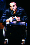 THE CHANGELING by Middleton;<br /> adaptation by Clare McIntyre;<br /> David Toole as De Flores;<br /> Directed by Sealey;<br /> Graeae Theatre Company;<br /> at the Phoenix Theatre, Exeter, UK;<br /> 11 October 2001;<br /> Credit: Patrick Baldwin;