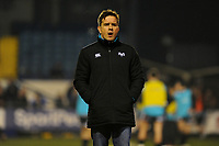 Head Coach Allen Clarke of Ospreys during the pre match warm up for the Guinness Pro14 Round 15 match between the Ospreys and Ulster Rugby at Morganstone Brewery Field in Bridgend, Wales, UK. Friday 15 February 2019