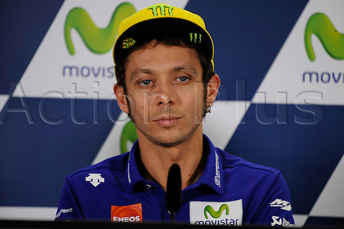22.09.2016. Motorland Aragon, Alcaniz, Spain. Grand Prix of Aragon. Press Conference day, Valentino Rossi during the press conference.