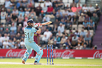Jonny Bairstow (England) helps a short delivery on its way to third man during England vs West Indies, ICC World Cup Cricket at the Hampshire Bowl on 14th June 2019