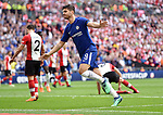Alvaro Morata of Chelsea celebrates scoring his goal to make it 2-0 during the FA cup semi-final match at Wembley Stadium, London. Picture date 22nd April, 2018. Picture credit should read: Robin Parker/Sportimage