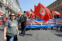 Roma, 25 Marzo 2017<br /> Eleonora Forenza eurodeputata.<br /> Corteo per una Europa solidale , democratica e accogliente, contro muri e frontiere per i migranti.<br /> La nostra Europa