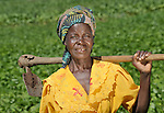 A woman farmer in Baula, Malawi, who has benefited from a Presbyterian Church-sponsored Soils, Foods and Healthy Communities Project