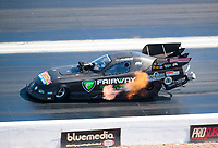 Nov 3, 2019; Las Vegas, NV, USA; NHRA funny car driver Terry Haddock during the Dodge Nationals at The Strip at Las Vegas Motor Speedway. Mandatory Credit: Mark J. Rebilas-USA TODAY Sports