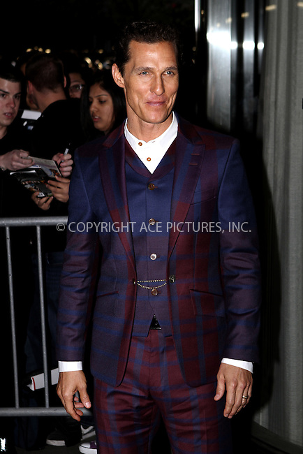 WWW.ACEPIXS.COM......April 21, 2013, New York City, NY.......Matthew McConaughey arriving at The Cinema Society screening of 'Mud' at The Museum of Modern Art on April 21, 2013 in New York City...........By Line: Nancy Rivera/ACE Pictures....ACE Pictures, Inc..Tel: 646 769 0430..Email: info@acepixs.com