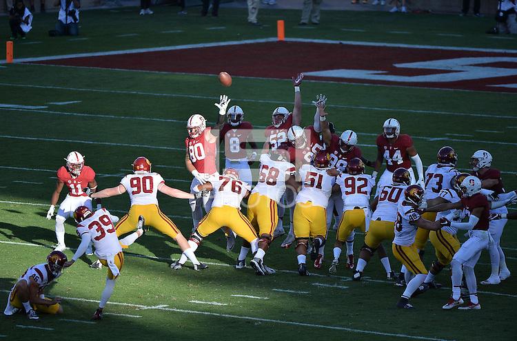 Stanford, CA -- September 17, 2016: Stanford 27-10 over USC at Stanford Stadium.