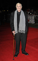 Martin Landau<br /> The 'Frankenweenie 3D' opening gala, 56th BFI London Film Festival, Odeon Leicester Square cinema, Leicester Square, London, England.<br /> October 10th, 2012<br /> full length suit cane black white dogtooth houndstooth scarf glasses<br /> CAP/CAN<br /> &copy;Can Nguyen/Capital Pictures /MediaPunch ***NORTH AND SOUTH AMERICAS ONLY***