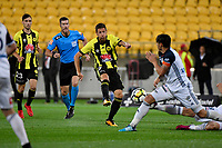 Wellington Phoenix&rsquo; Nathan Bums in action during the A League - Wellington Phoenix v Melbourne Victory FC at Westpac Stadium, Wellington, New Zealand on Wednesday 10 January 2018. <br /> Photo by Masanori Udagawa. <br /> www.photowellington.photoshelter.com