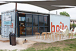 Le Boite Cafe is a coffee shop and French pastry cafe in a shipping container on South Lamar in Austin, Texas...Ben Sklar for VICE Magazine