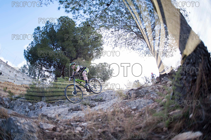 Chelva, SPAIN - MARCH 6: Julia Pujol during Spanish Open BTT XCO on March 6, 2016 in Chelva, Spain