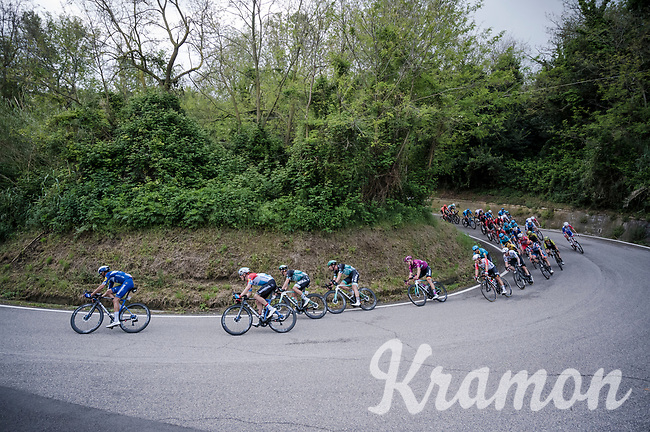 some wide hairpin descents in the race's finale<br /> <br /> Stage 8: Tortoreto Lido to Pesaro (239km)<br /> 102nd Giro d'Italia 2019<br /> <br /> ©kramon