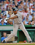 15 June 2012: New York Yankees outfielder Andruw Jones in action against the Washington Nationals at Nationals Park in Washington, DC. The Yankees defeated the Nationals 7-2 in the first game of their 3-game series. Mandatory Credit: Ed Wolfstein Photo