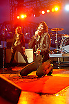 Eric Sean Nally of Foxy Shazam performs at the Bunbury Music Festival in Cincinnati, Ohio.