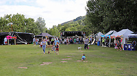 Pictured: General view of the venue  Saturday 13 August 2016<br />Re: Grow Wild event at  Furnace to Flowers site in Ebbw Vale, Wales, UK