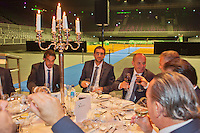September 10, 2014,Netherlands, Amsterdam, Ziggo Dome, Davis Cup Netherlands-Croatia, Official Diner, Croatian team toast, in the middle Marin Cilic<br />