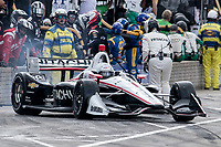 Josef Newgarden, #1 Chevrolet, pit stop, Detroit Grand Prix, IndyCar race, Belle Isle, Detroit, MI, June 2018.(Photo by Brian Cleary/bcpix.com)