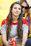 Women's fan, JUNE 18, 2014 - Football / Soccer : FIFA World Cup Brazil<br /> match between Spain and Chile at the Maracana Stadium in Rio de Janeiro, Brazil. (Photo by AFLO)