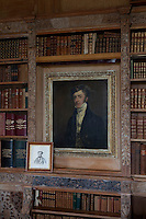 A portrait of one of the McClintock Bunburys in the library