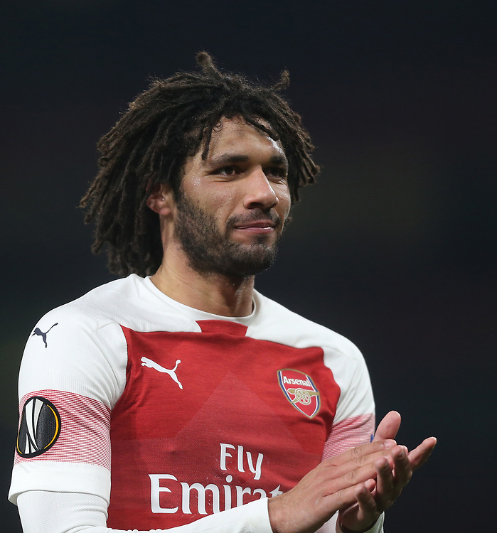 Arsenal's Mohamed Elneny<br /> <br /> Photographer Rob Newell/CameraSport<br /> <br /> UEFA Europa League Group E - Arsenal v FK Qarabag - Thursday 13th December 2018 - Emirates Stadium - London<br />  <br /> World Copyright © 2018 CameraSport. All rights reserved. 43 Linden Ave. Countesthorpe. Leicester. England. LE8 5PG - Tel: +44 (0) 116 277 4147 - admin@camerasport.com - www.camerasport.com