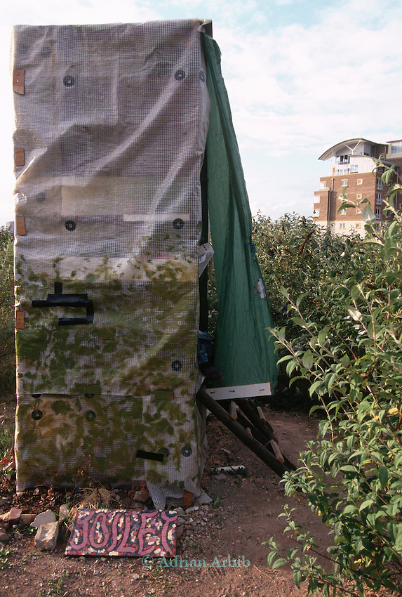 A compost toilet in use on the site of the Wandsworth Eco village.
