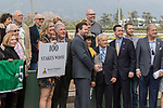 ARCADIA, CA FEBRUARY 10: Westpoint Thoroughbreds, owners of #5 Kanthaka, ridden by Flavien Prat, in the winners circle after winning the  San Vicente Stakes (Grade ll) on February 10, 2018 at Santa Anita Park in Arcadia, CA. (Photo by Casey Phillips/ Eclipse Sportswire/ Getty Images)