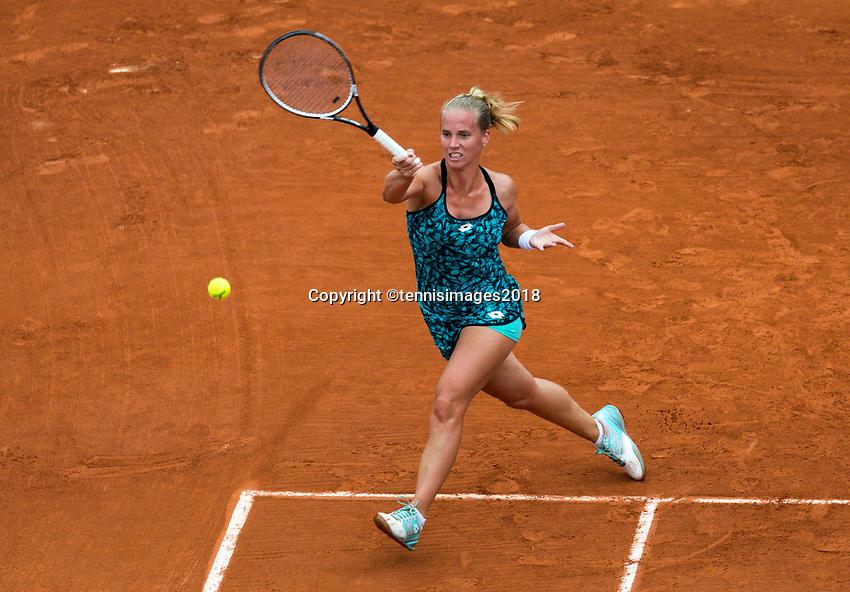 Paris, France, 29 May, 2018, Tennis, French Open, Roland Garros, Richel Hogenkamp (NED)<br /> Photo: Henk Koster/tennisimages.com