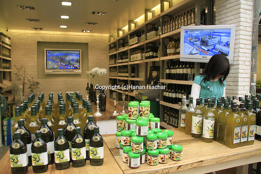 Israel, Jerusalem, Mahane Yehuda market, Pereg Olive oil shop