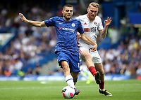 Mateo Kovacic of Chelsea in possession as Sheffield United's Oliver McBurnie looks on during Chelsea vs Sheffield United, Premier League Football at Stamford Bridge on 31st August 2019
