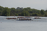 May 16, 2015; Gold River, CA, USA; II Eight race, San Diego Toreros, Gonzaga Bulldogs, Loyola Marymount Lions, Saint Mary's Gaels, Portland Pilots, Santa Clara Broncos, Creighton Blue Jays during the WCC Rowing Championships at Lake Natoma.