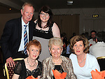 Cyril Farrell, Mary Gregory, Marie farrell, Glenda Farrell and Claire Campbell pictured at the Return to Abbey Ballroom with the Flying Carlton at the Glenside hotel. Photo: Colin Bell/pressphotos.ie