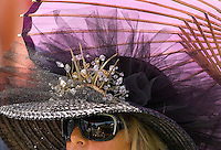 A women in her hat during the Queen's Cup Steeplechase in Mineral Springs, NC.