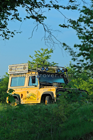 Germany, Bad Kissingen, Allrad Messe, 25-29.05.2005. Ex Camel Trophy Land Rover 90. --- No releases available. Automotive trademarks are the property of the trademark holder, authorization may be needed for some uses.