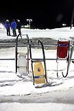 USA, Utah, Park City, luge sleds at the start, Utah Olympic Park