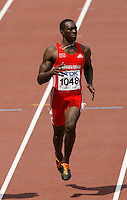 Marc Burns of Trinidad & Tobago in the 1st. round of the 100m dash, finishad with a time of 10.22sec. at the 11th. IAAF World Championships in Osaka, Japan on Saturday August 25, 2007. Photo by Errol Anderson, The Sporting Image.
