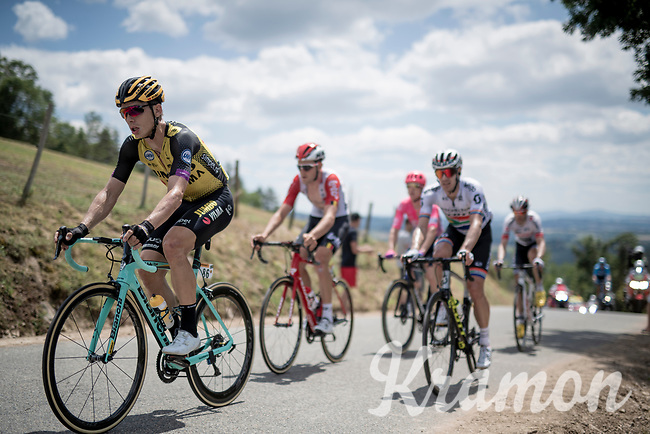 Tony Martin (DEU/Jumbo-Visma) in the breakaway group up the Mur d'Aurec-sur-Loire (3.2km at 10.8%)<br /> <br /> Stage 9: Saint-Étienne to Brioude(170km)<br /> 106th Tour de France 2019 (2.UWT)<br /> <br /> ©kramon
