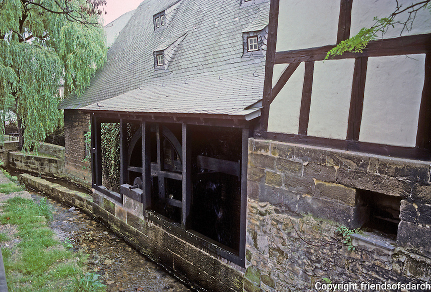 Goslar: A mill near the City Museum. Photo '87.
