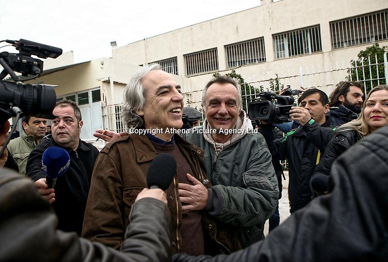 Dimitris Koufodinas exits Korydallos Maximum Security prison